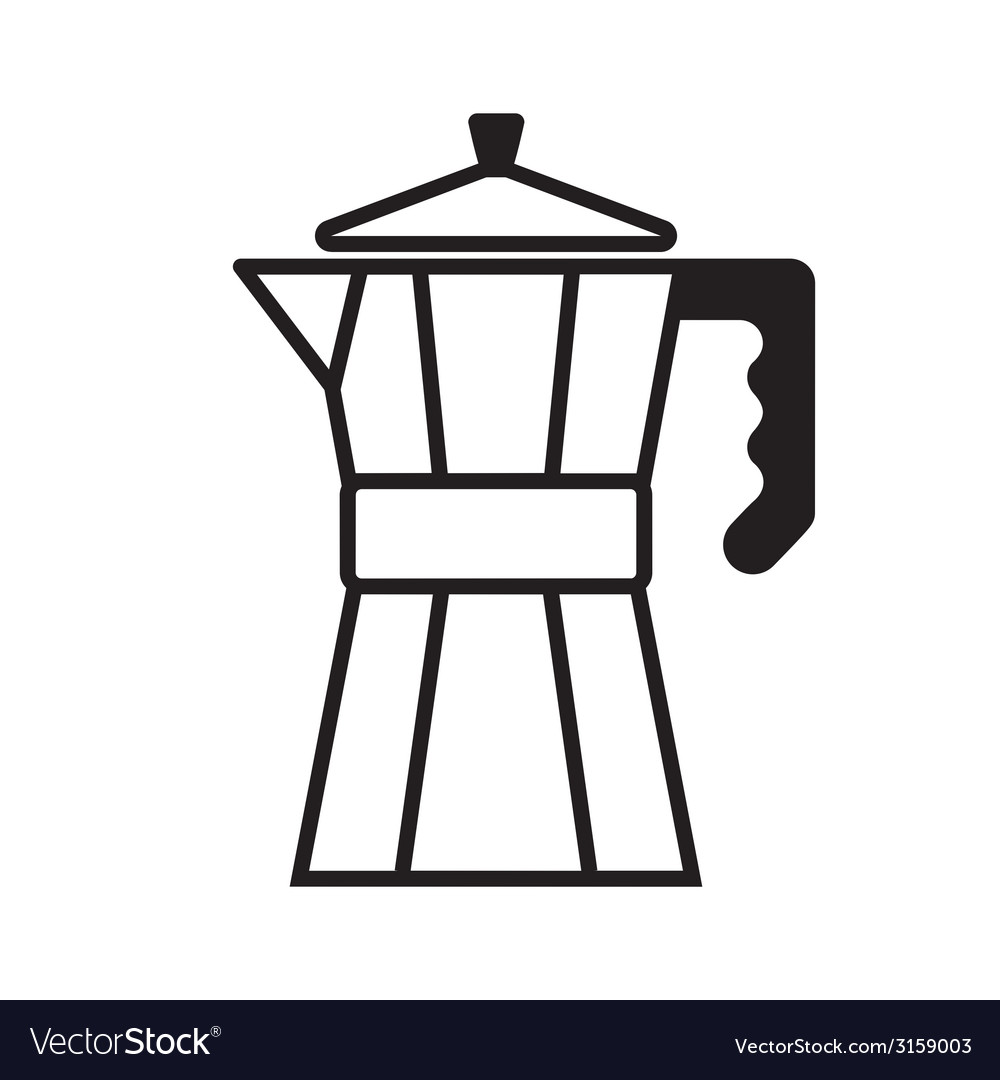 Coffee maker vector | Price: 1 Credit (USD $1)