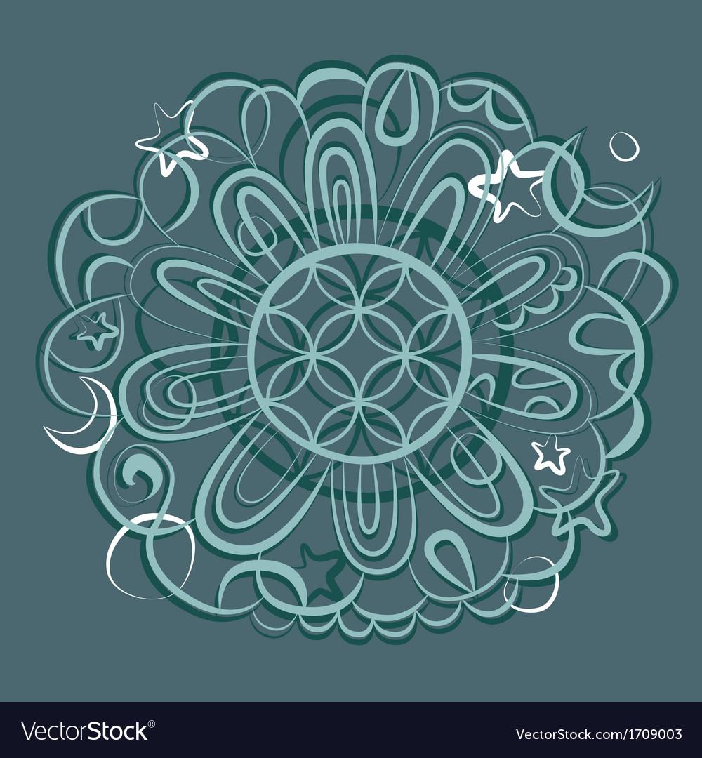 Fantasy mandala ornament vector   Price: 1 Credit (USD $1)