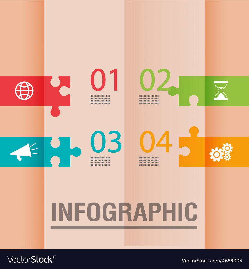 Jigsaw modern color design template vector | Price: 1 Credit (USD $1)
