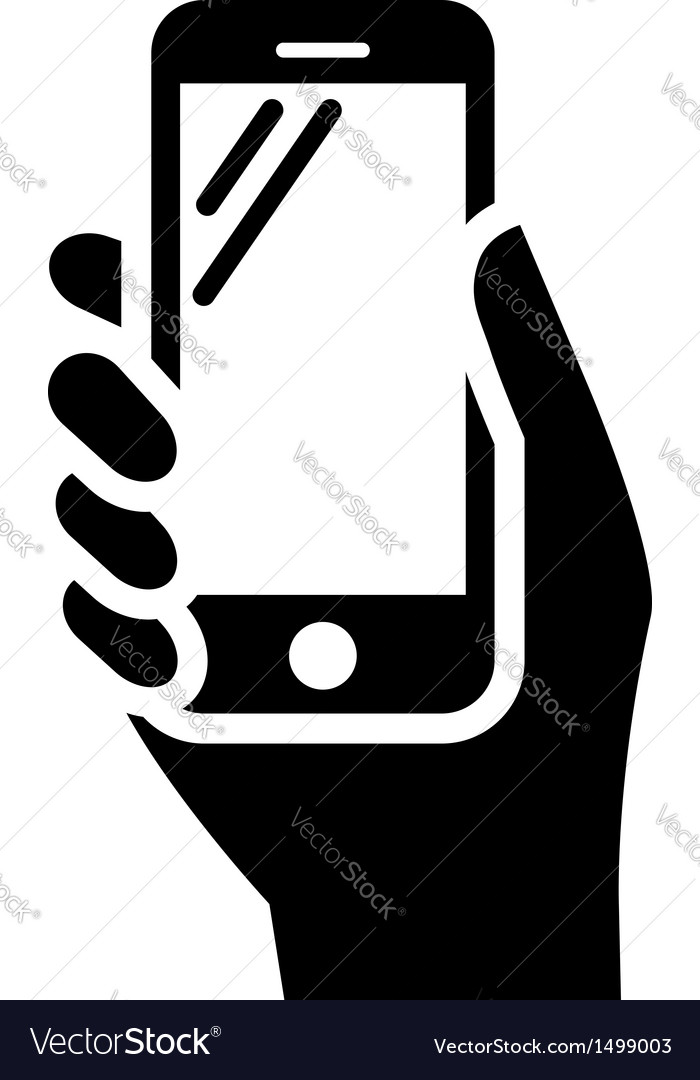 Phone in hand sign vector | Price: 1 Credit (USD $1)