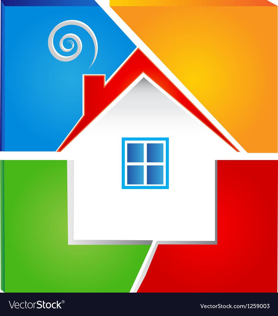 Real estate icon logo vector | Price: 1 Credit (USD $1)