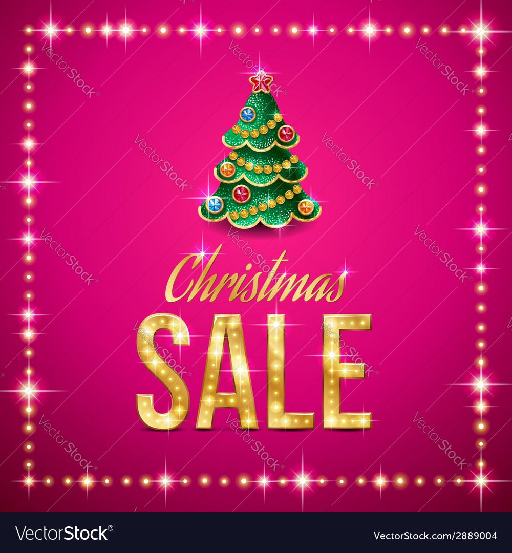 Christmas sale pink vector | Price: 1 Credit (USD $1)