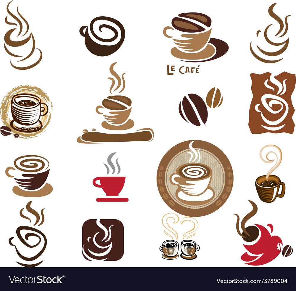 Coffee and tea design elements vector | Price: 1 Credit (USD $1)