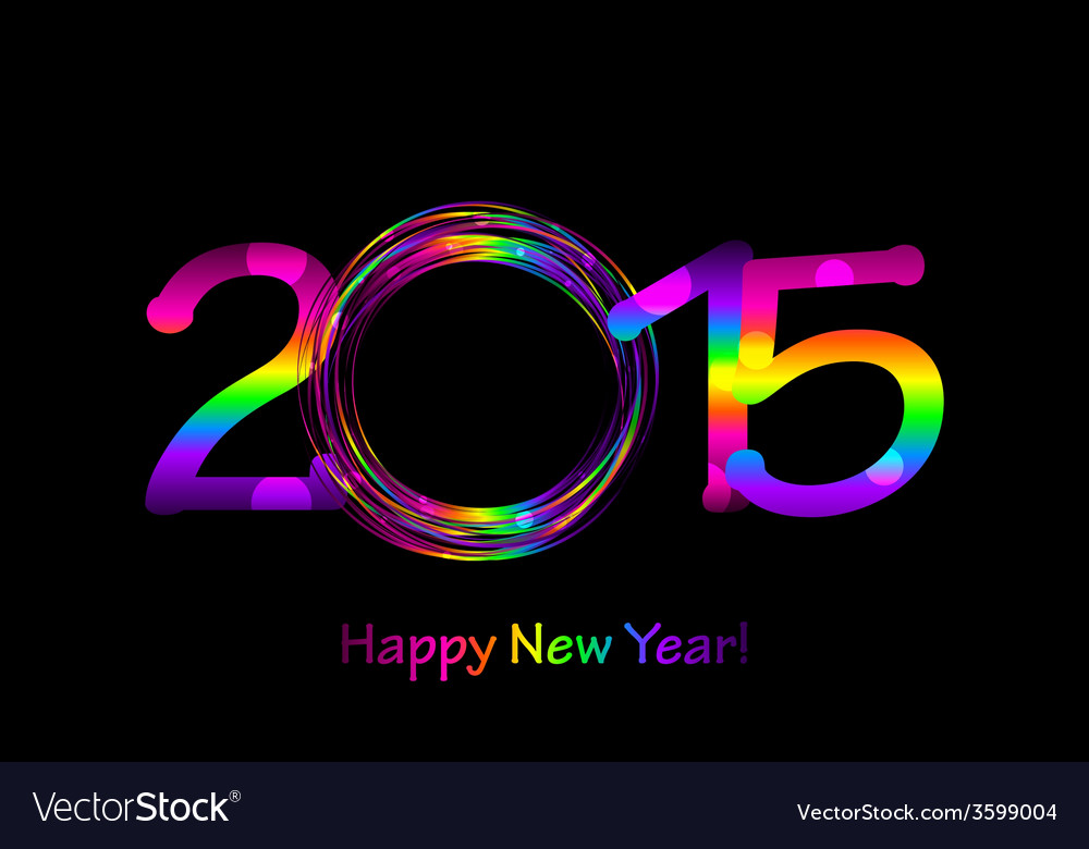 Colorful 2015 happy new year background vector | Price: 1 Credit (USD $1)