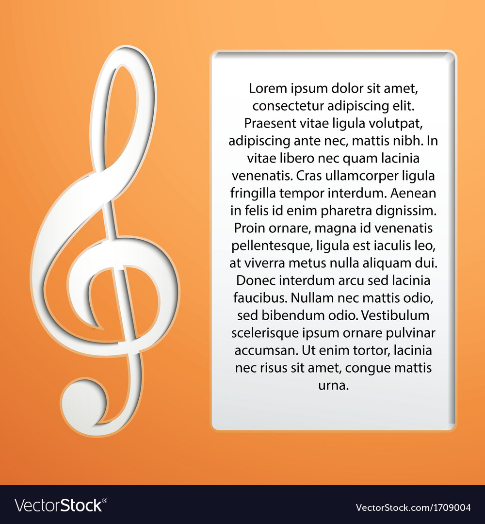 Music note - treble clef vector | Price: 1 Credit (USD $1)
