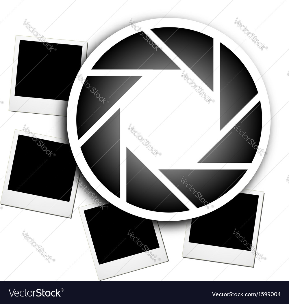 Photography logo with polaroids vector | Price: 1 Credit (USD $1)