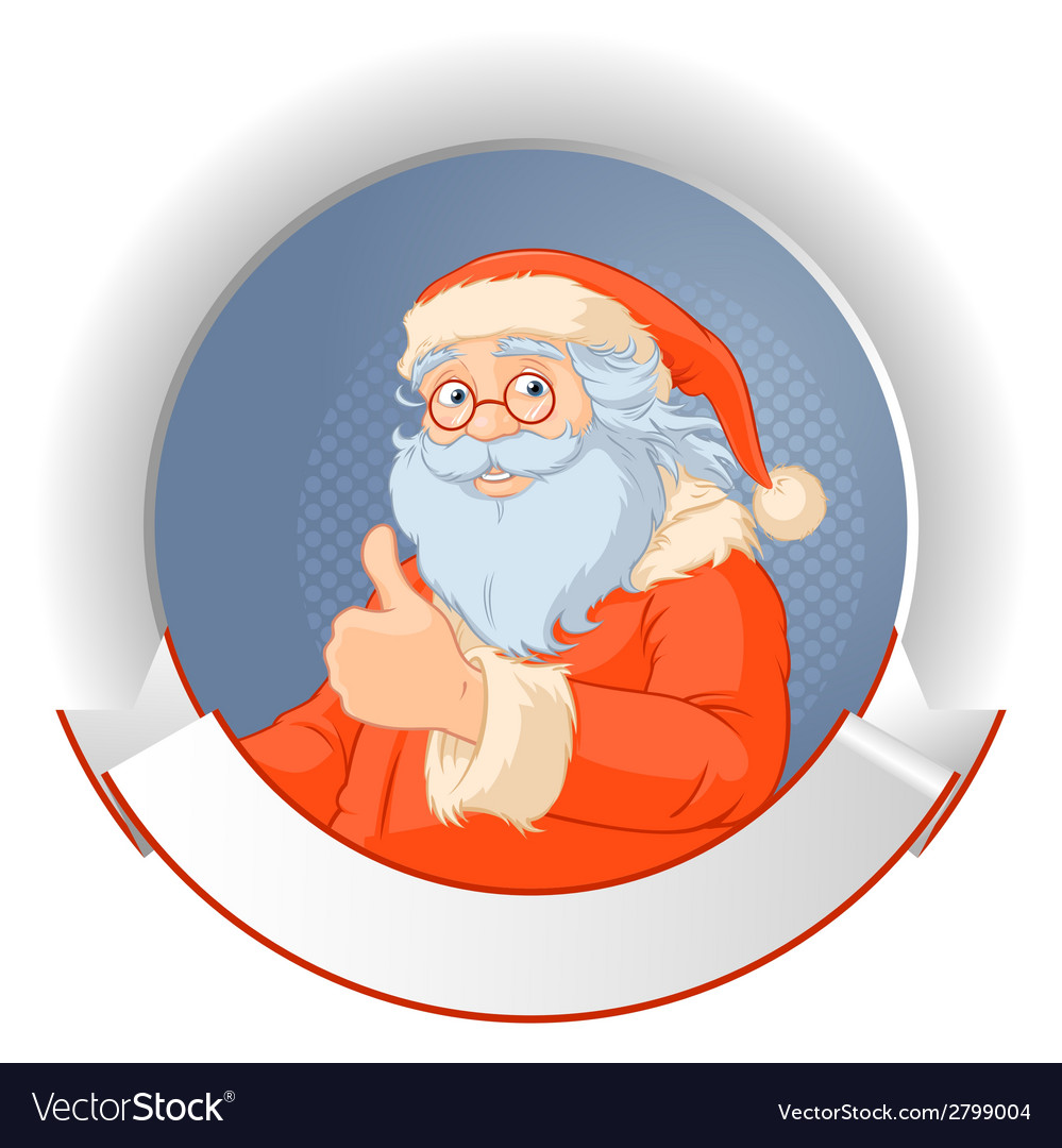 Santa with copy space logo vector | Price: 1 Credit (USD $1)