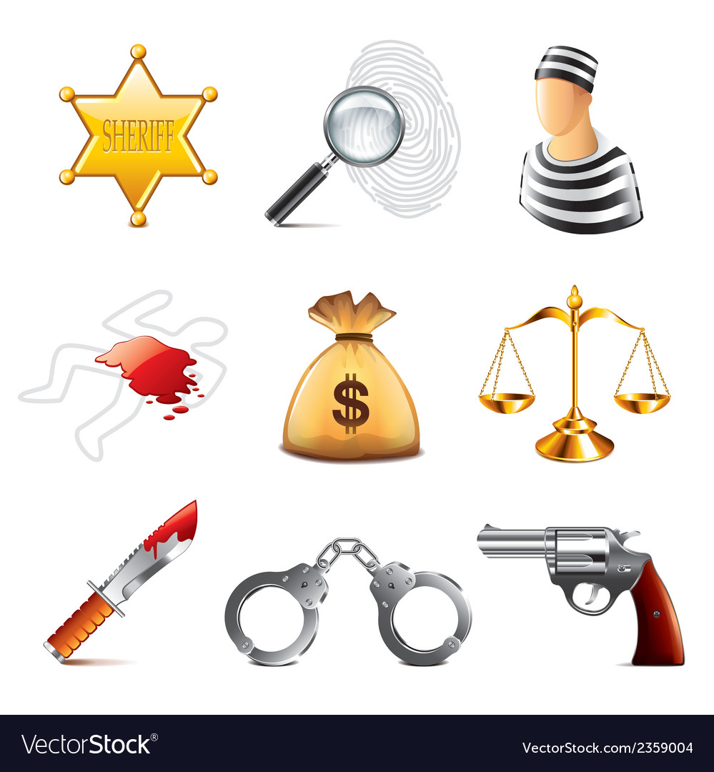 Set crime vector | Price: 3 Credit (USD $3)