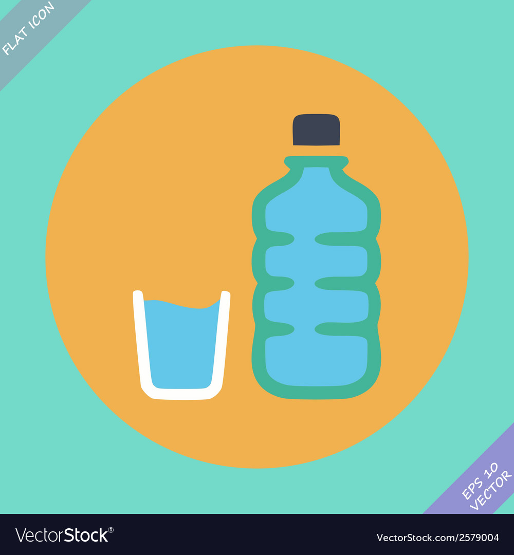 Set of water bottle and amp - vector | Price: 1 Credit (USD $1)