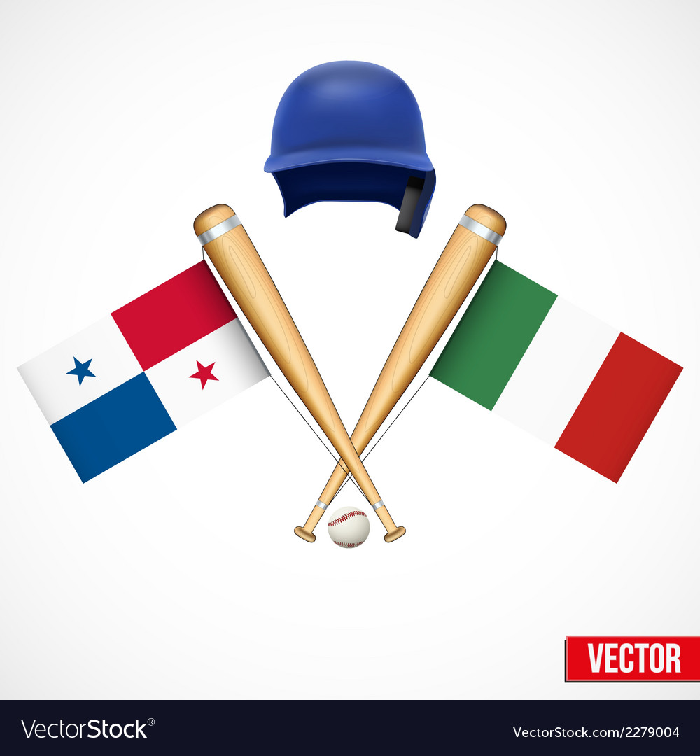 Symbols of baseball team panama and mexico vector | Price: 1 Credit (USD $1)