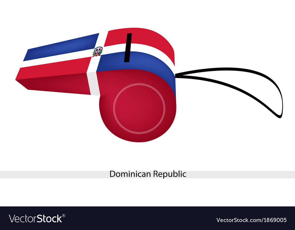 A beautiful whistle of the dominican republic vector | Price: 1 Credit (USD $1)