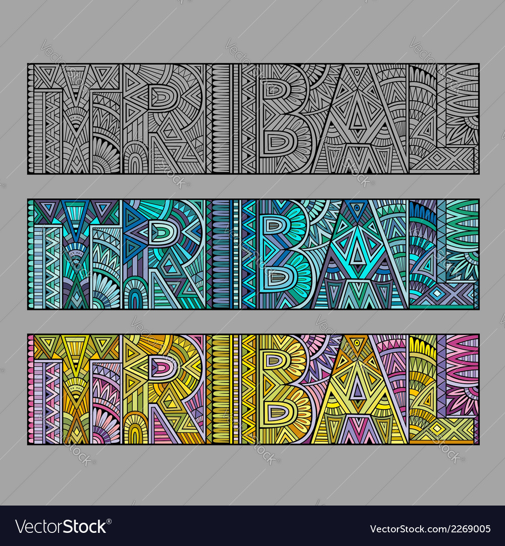 Abstract concept typography tribal vector | Price: 1 Credit (USD $1)