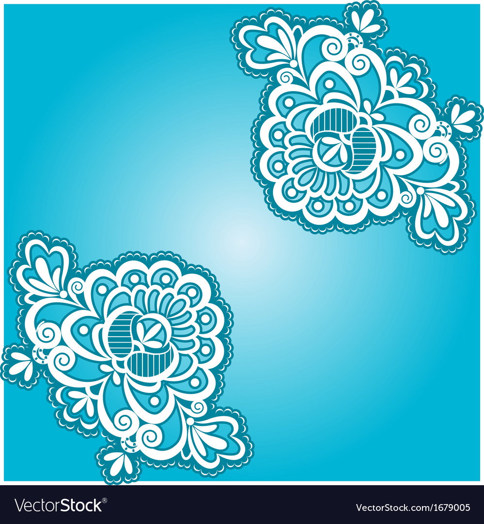 Blue floral napkin vector | Price: 1 Credit (USD $1)