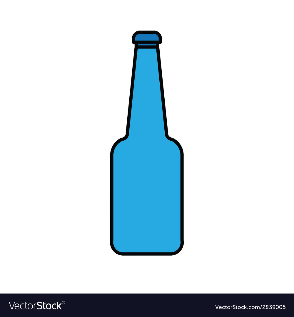 Blue glass bottle vector | Price: 1 Credit (USD $1)