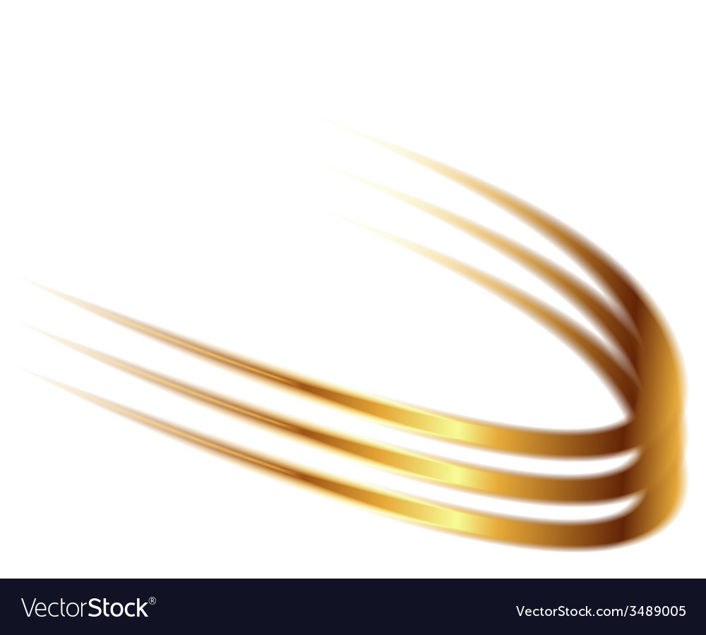 Dynamic golden abstract motion on white background vector | Price: 1 Credit (USD $1)