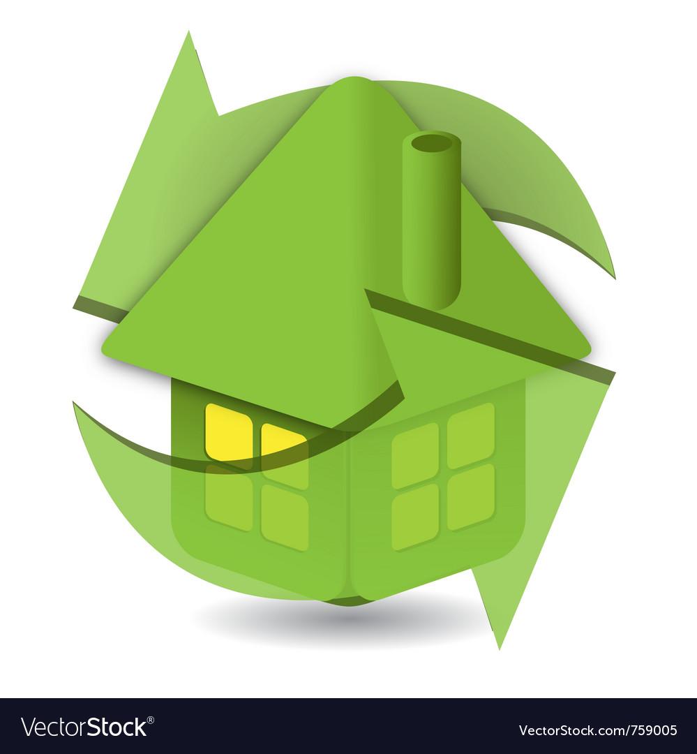 Eco lodge symbol vector | Price: 1 Credit (USD $1)