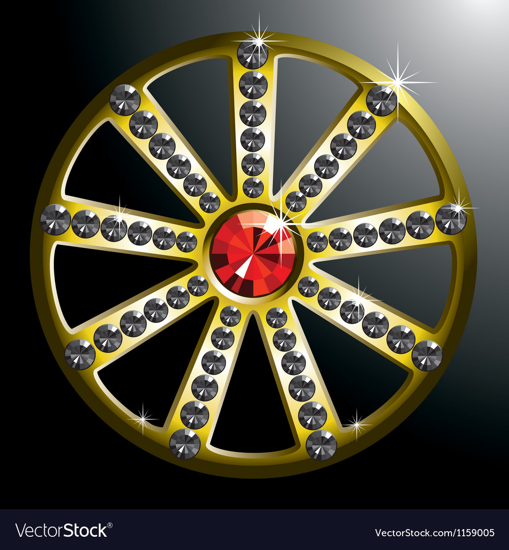 Expensive gold diamond wheel p2 vector | Price: 1 Credit (USD $1)