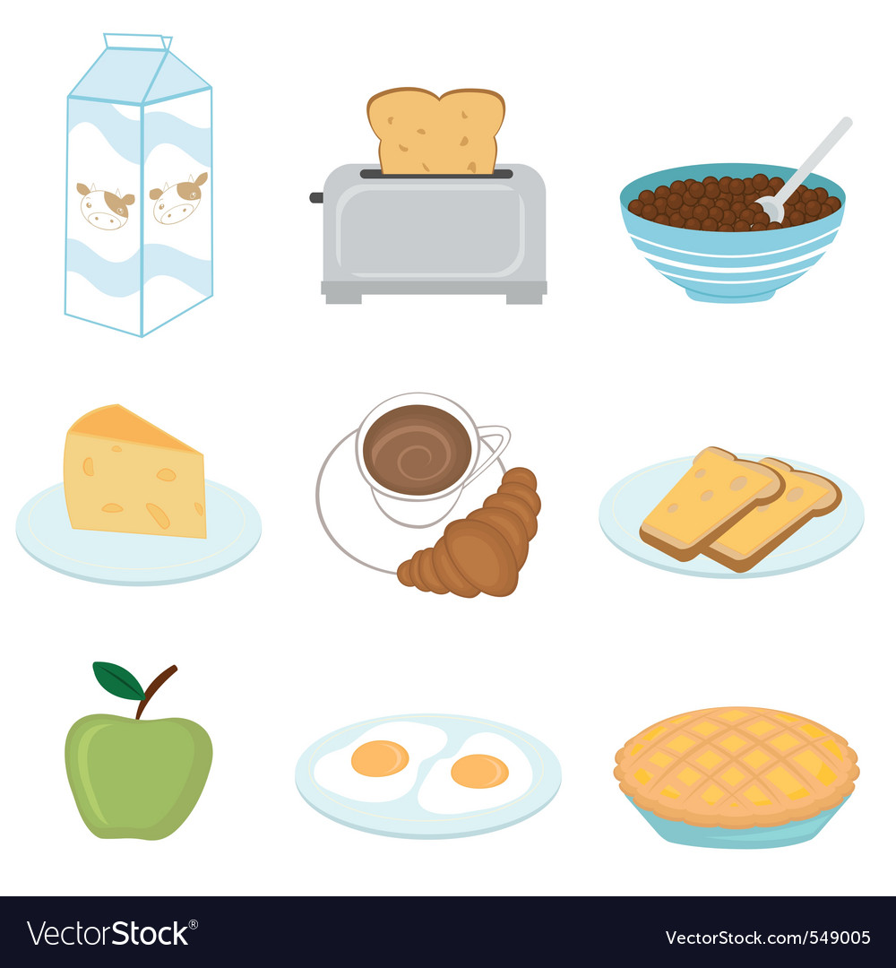 Healthy breakfast set vector | Price: 1 Credit (USD $1)