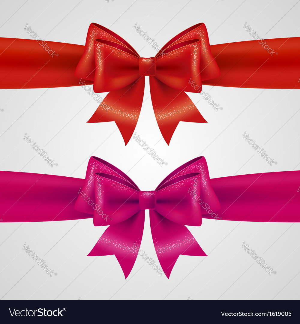 Holiday bows vector | Price: 1 Credit (USD $1)