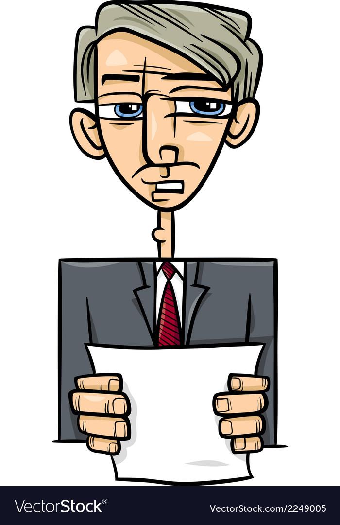 Man giving speech cartoon vector | Price: 1 Credit (USD $1)