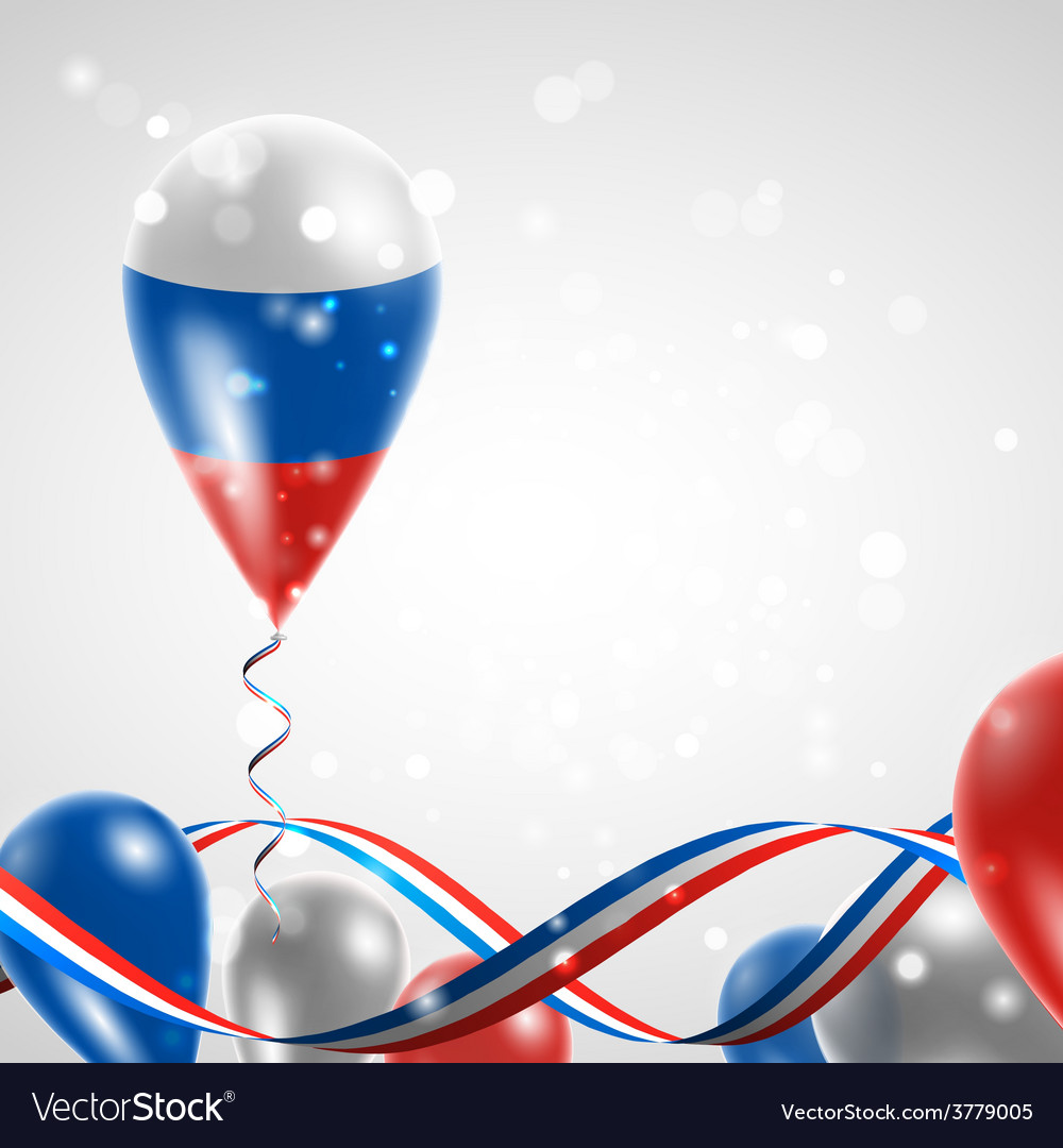 Russian flag on balloon vector | Price: 3 Credit (USD $3)