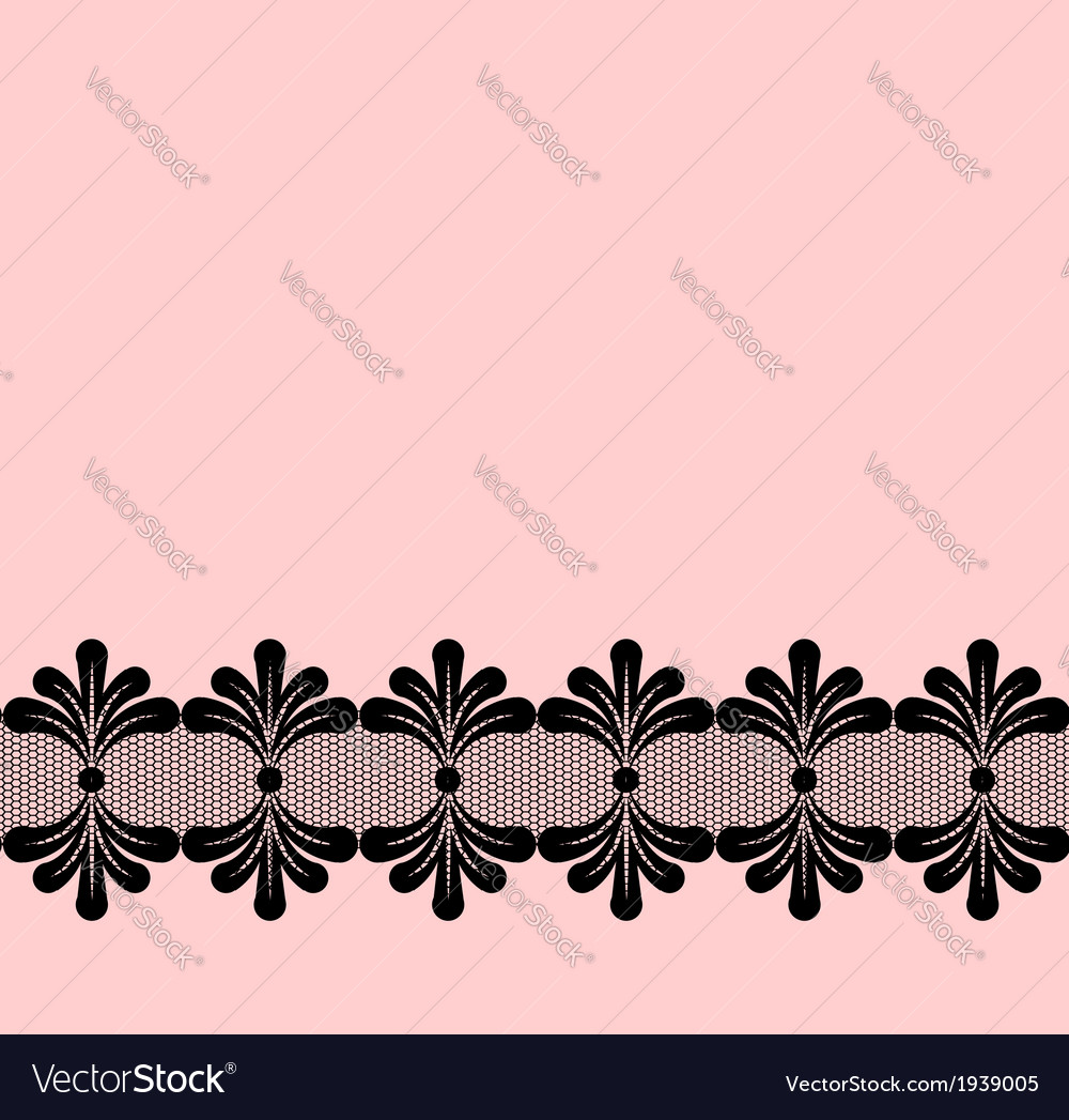 Seamless black lacy border vector | Price: 1 Credit (USD $1)