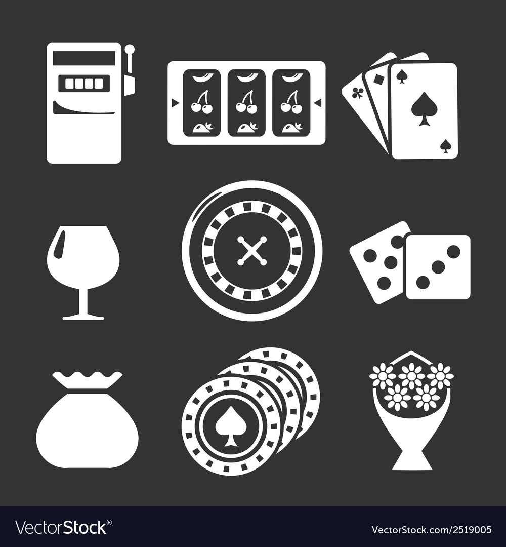 Set icons of casino vector | Price: 1 Credit (USD $1)