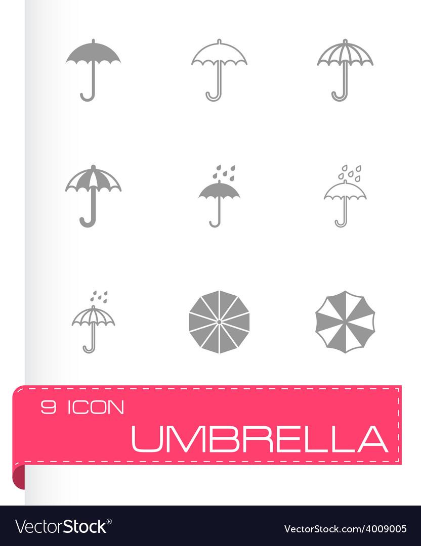 Umbrella icon set vector   Price: 1 Credit (USD $1)