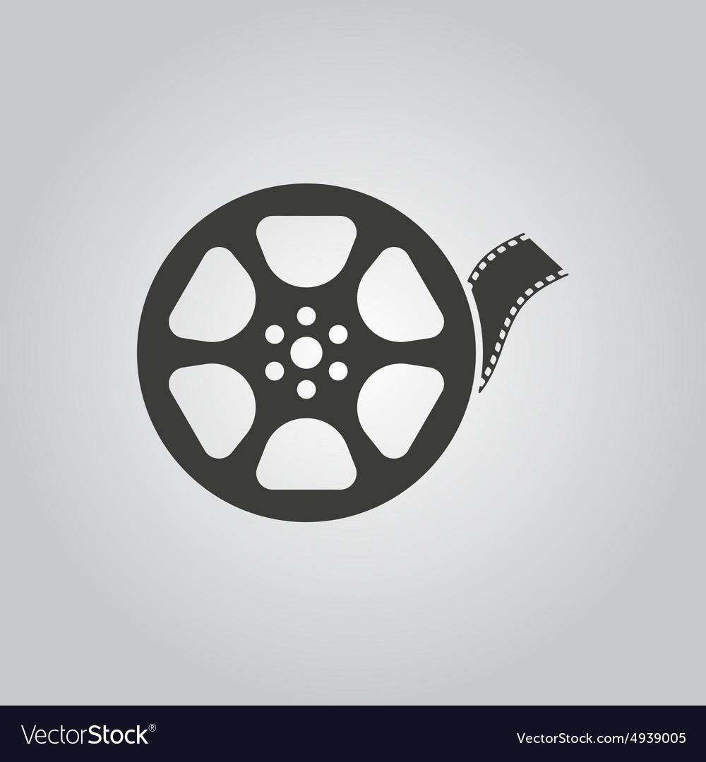 Video icon movie symbol flat vector