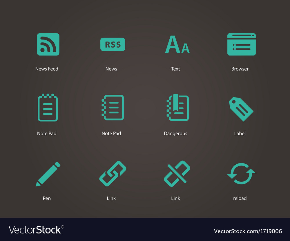 Blogger icons vector | Price: 1 Credit (USD $1)
