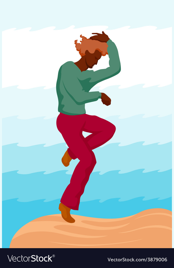 Dancing guy vector | Price: 1 Credit (USD $1)