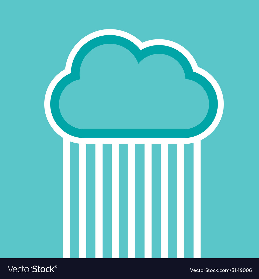 Man in cloud logo isolated on white vector | Price: 1 Credit (USD $1)
