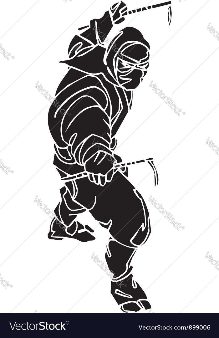 Ninja fighter -  vinyl-ready vector | Price: 1 Credit (USD $1)