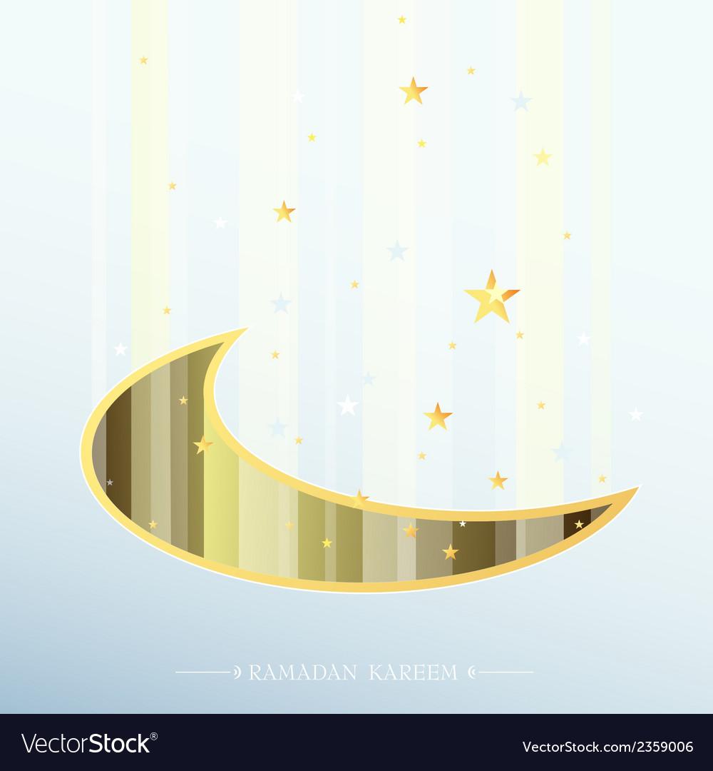Ramadan greeting card design vector   Price: 1 Credit (USD $1)