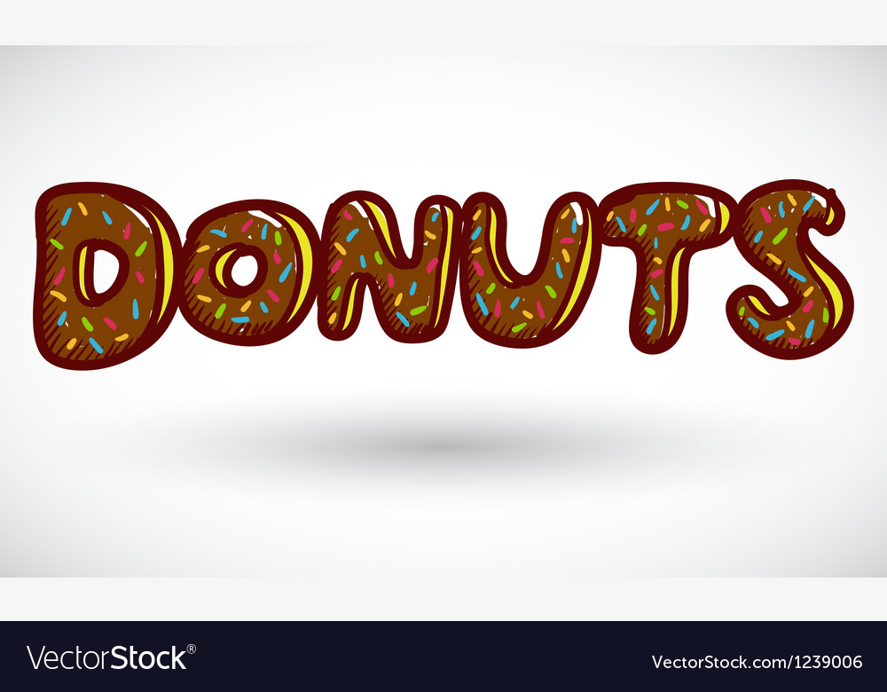 Sign doughnut vector | Price: 1 Credit (USD $1)