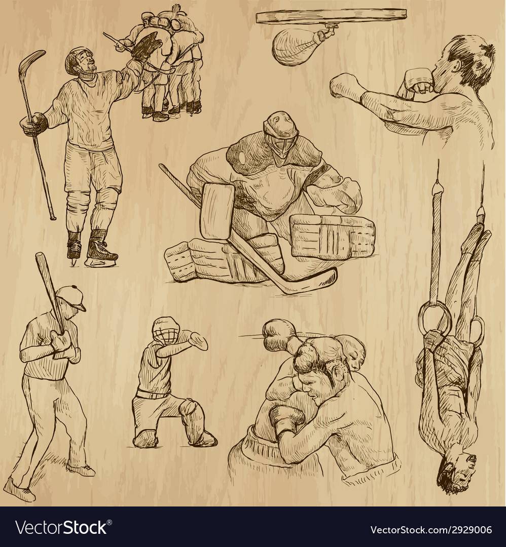 Sport collection no13 - hand drawn vector   Price: 1 Credit (USD $1)