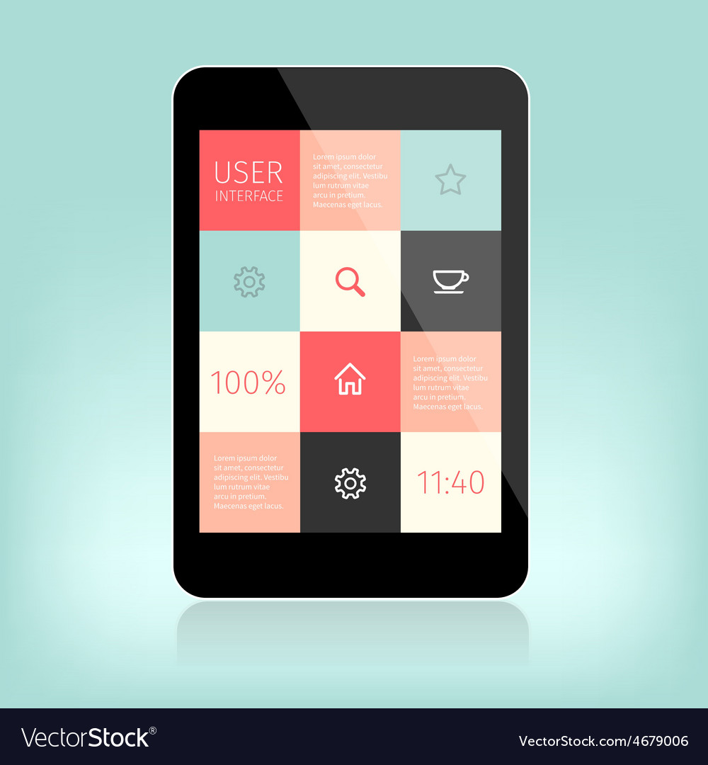 User interface design for mobile vector | Price: 1 Credit (USD $1)
