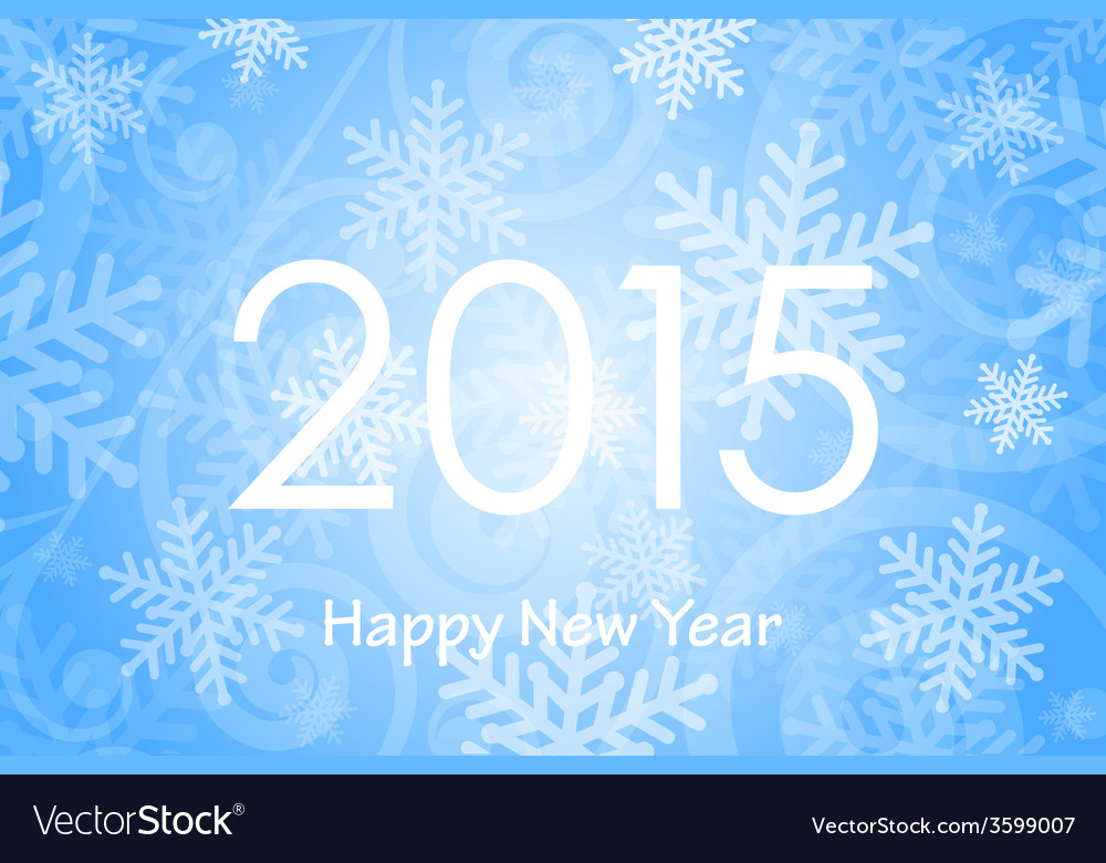 2015 happy new year background with snowflakes vector   Price: 1 Credit (USD $1)