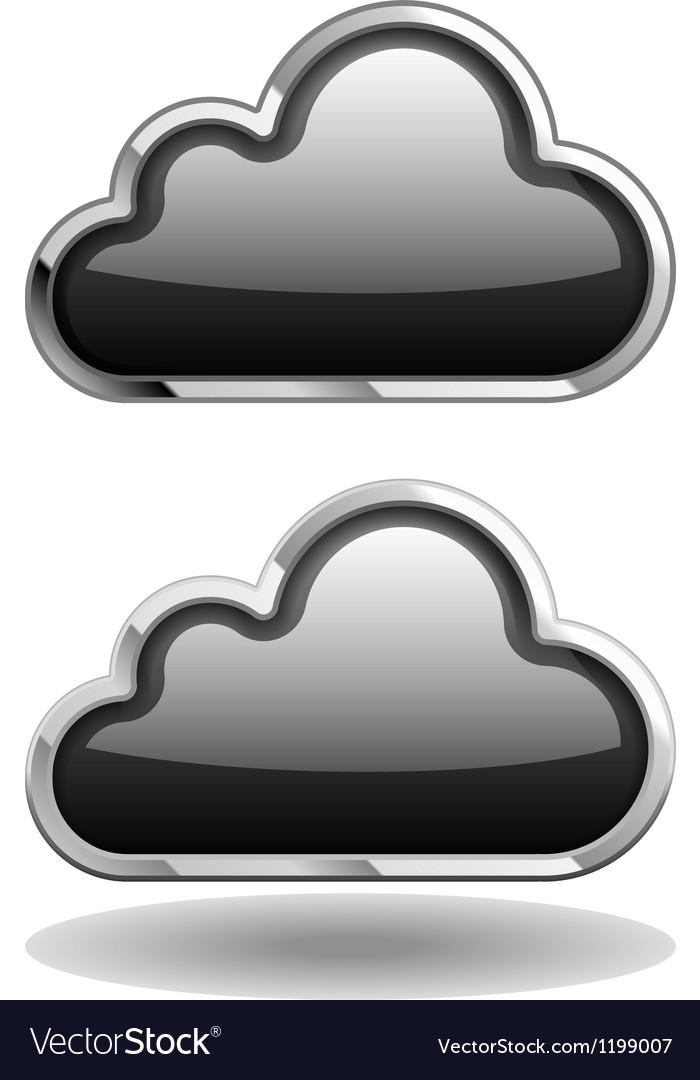 Black cloud icon vector | Price: 1 Credit (USD $1)