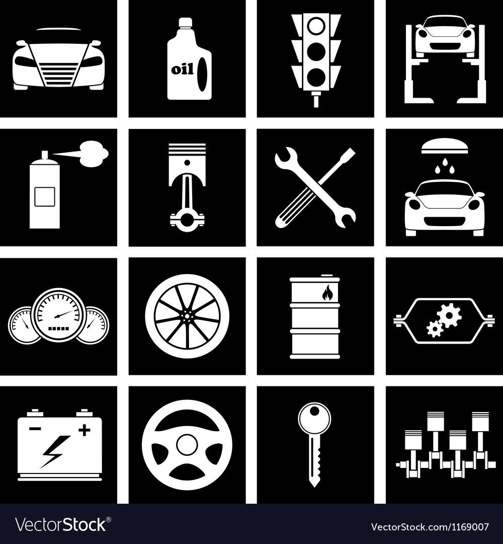 Car repair icons vector | Price: 1 Credit (USD $1)