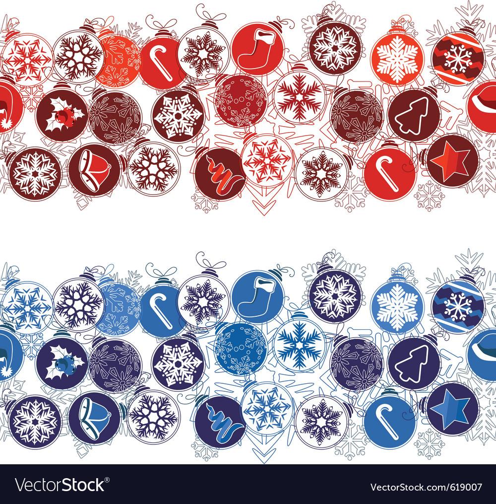 Christmas seamless border with balls vector   Price: 1 Credit (USD $1)