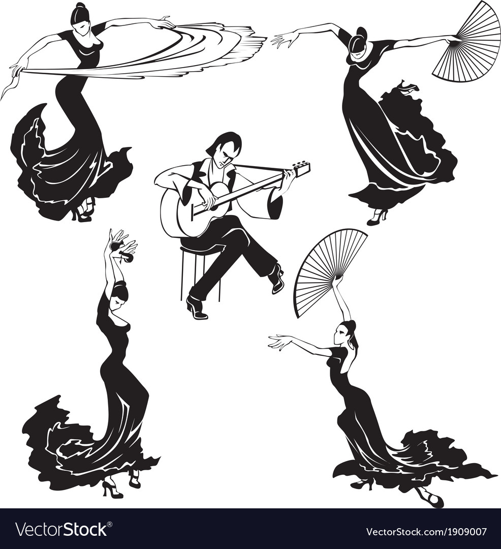 Flamenco dancers vector | Price: 1 Credit (USD $1)