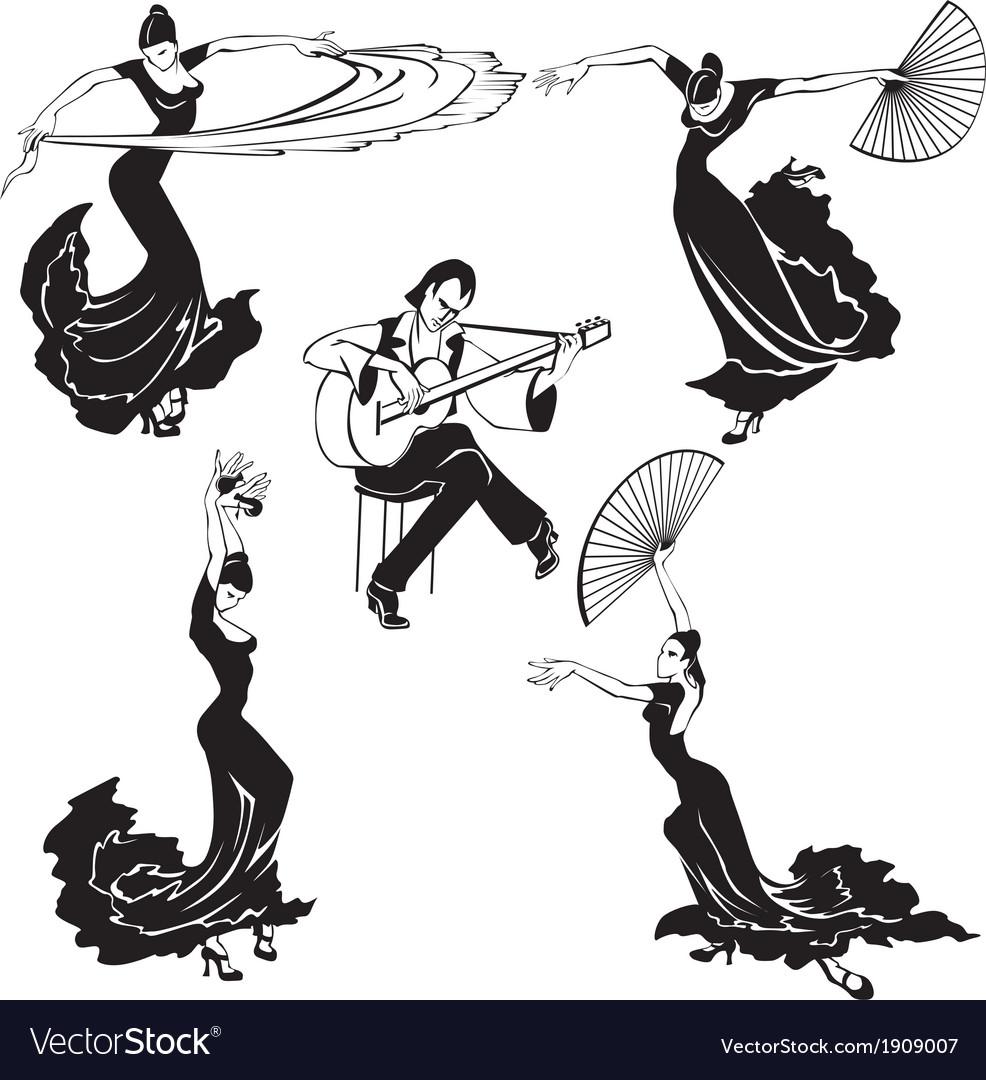 Flamenco dancers vector   Price: 1 Credit (USD $1)