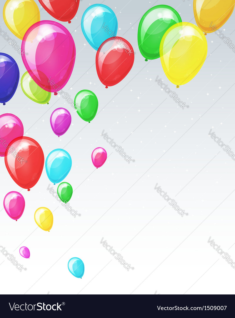 Holiday background with balloons vector   Price: 1 Credit (USD $1)