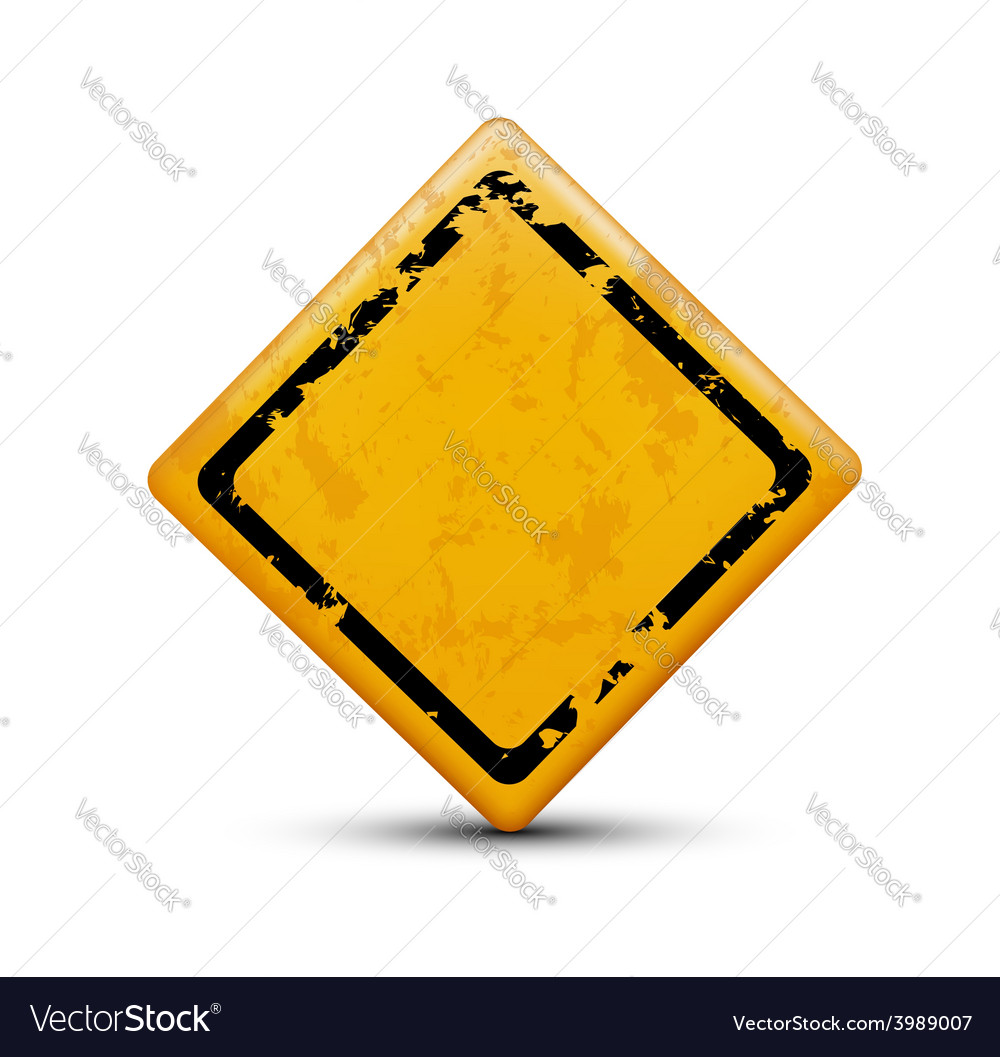 Metal warning sign isolated on white background vector | Price: 1 Credit (USD $1)