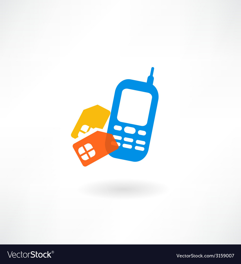 Mobile and simkarty icon vector | Price: 1 Credit (USD $1)