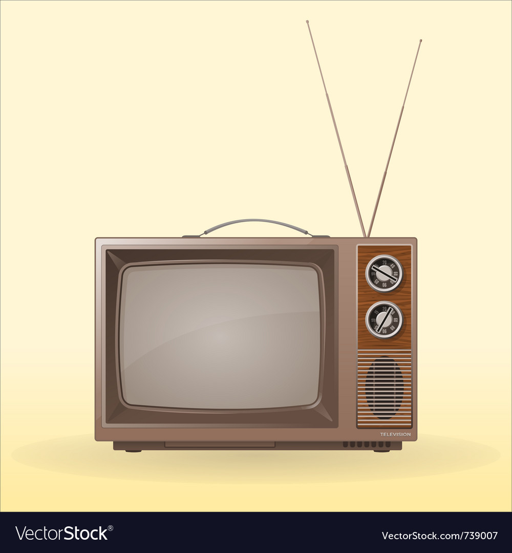 Old retro tv vector | Price: 1 Credit (USD $1)
