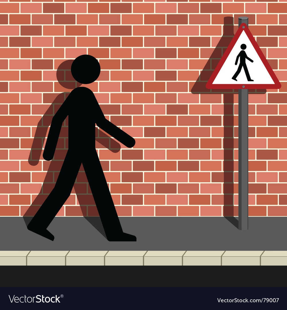 Pedestrian vector | Price: 1 Credit (USD $1)