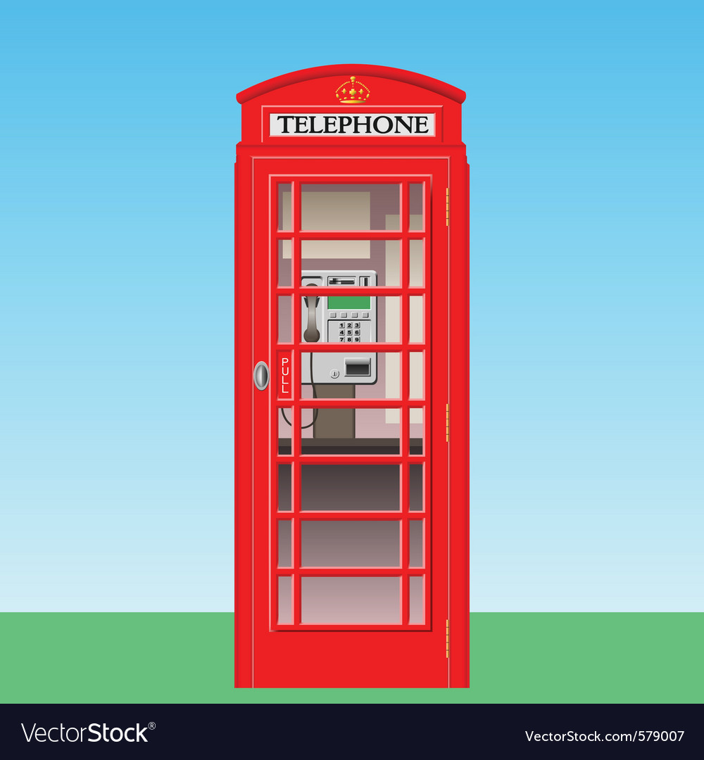 Phone booth vector | Price: 1 Credit (USD $1)