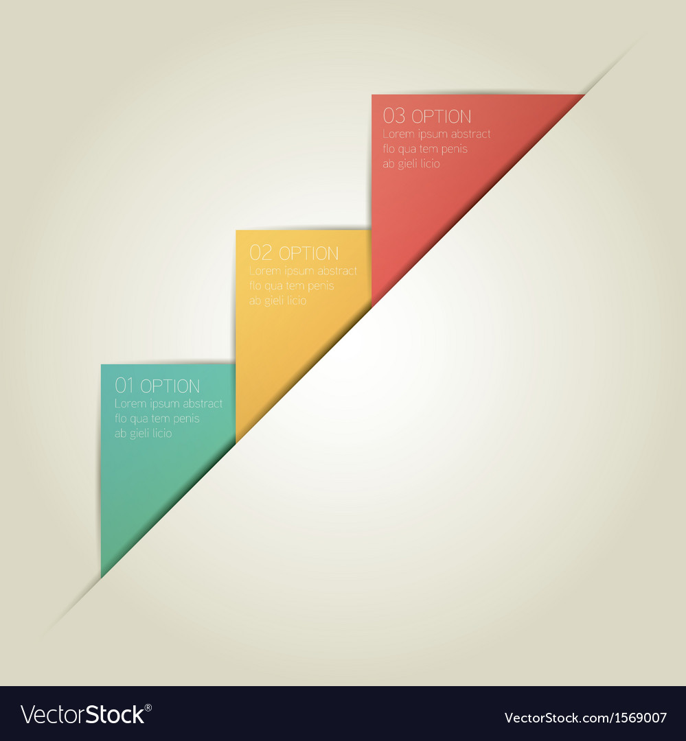 Triangle infographic background with sample text vector | Price: 1 Credit (USD $1)